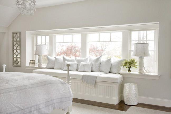 white color window seat | JLL DESIGN: Designer Feature Molly Frey Design