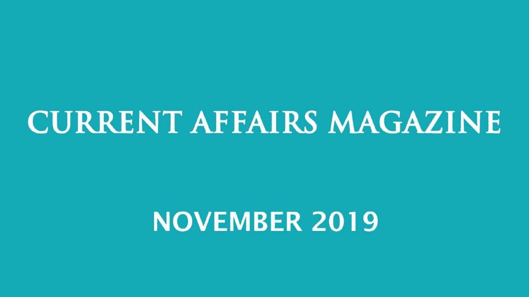 Current Affairs November 2019 iasparliament
