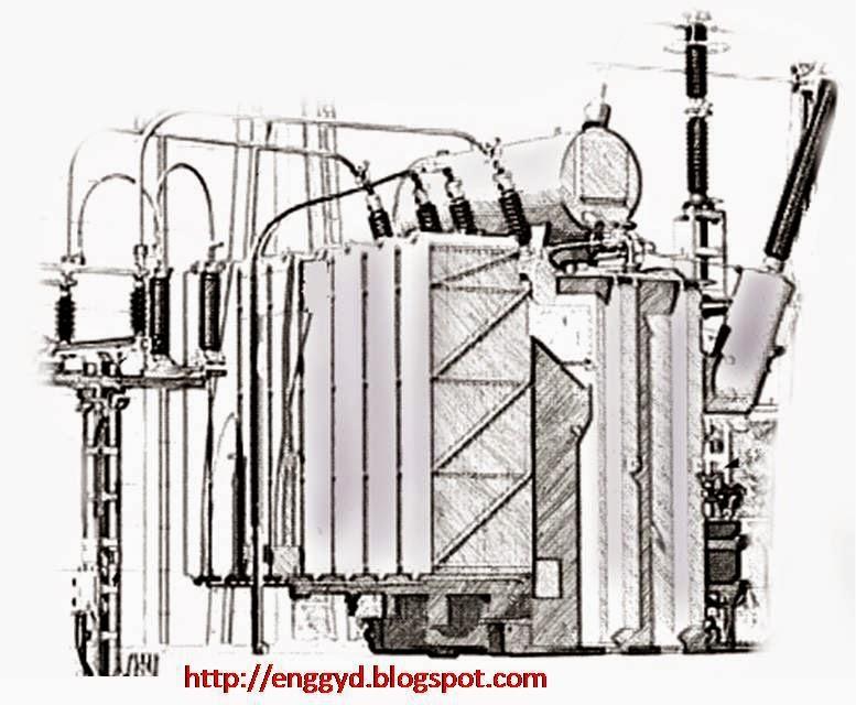 Electric transformer design sketch