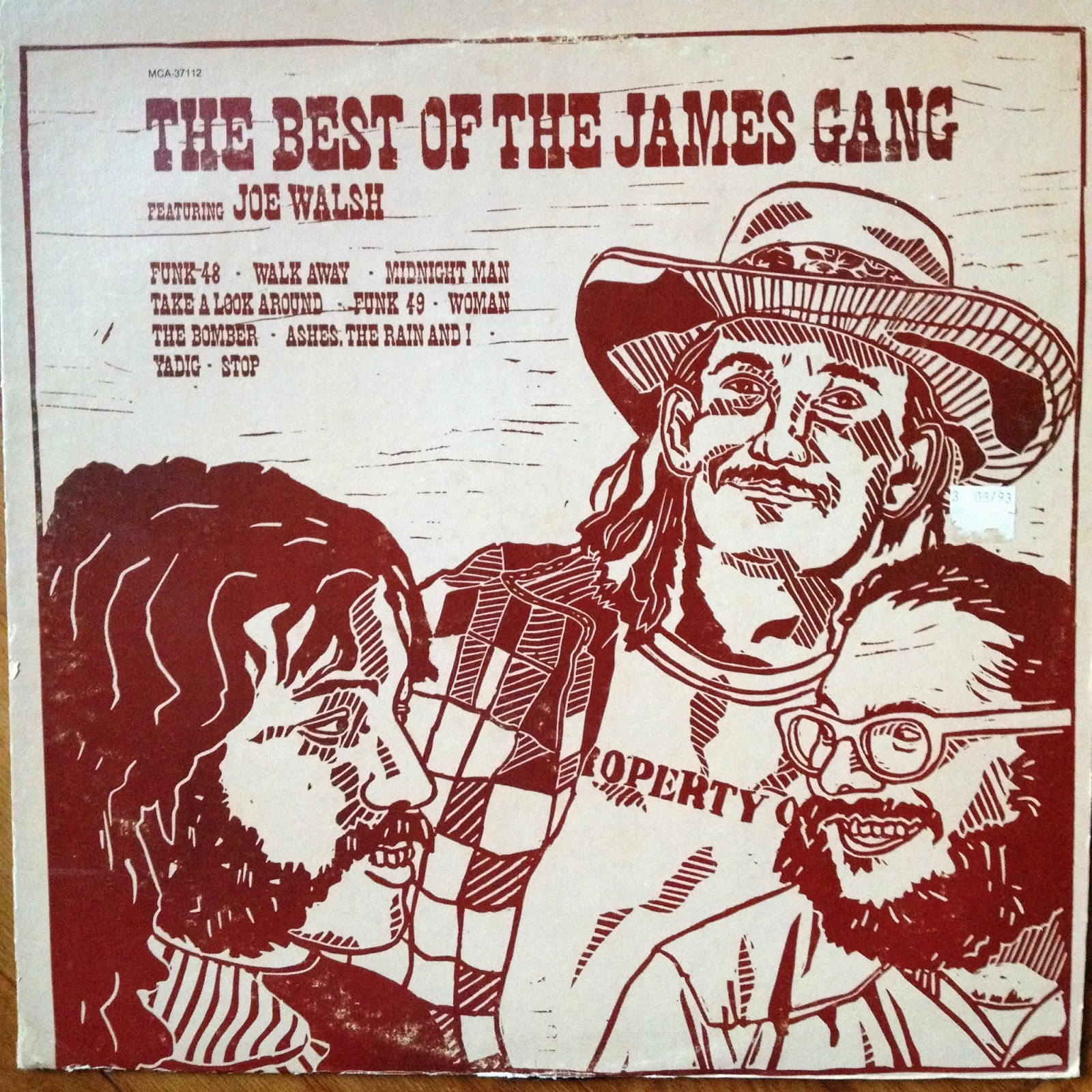 LP cover:  The Best of the James Gang