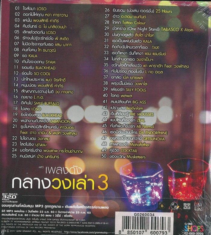 Download [Mp3]-[Hit Music] คำเตือน 50 เพลงนี้เป็นเหตุให้…อยู่สังสรรค์ ยันสว่าง ในชุด GMM – เพลงดังกลางวงเล่า 3 (2017) @320kbps 4shared By Pleng-mun.com