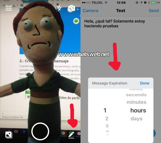 Mensajes que se autodestruyen en WhatsApp