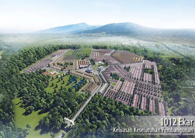 Keluasan Keseluruhan Pembangunan melibatkan 1012 ekar tanah