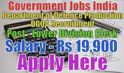 Department of Defence Production DGQA Recruitment 2017
