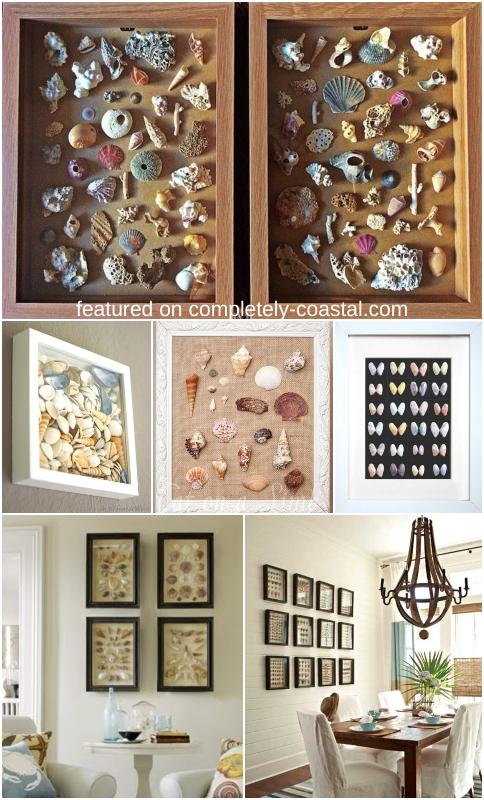 DIY Framed Sea Shells Memory Keeping Wall Decor Seashell Art