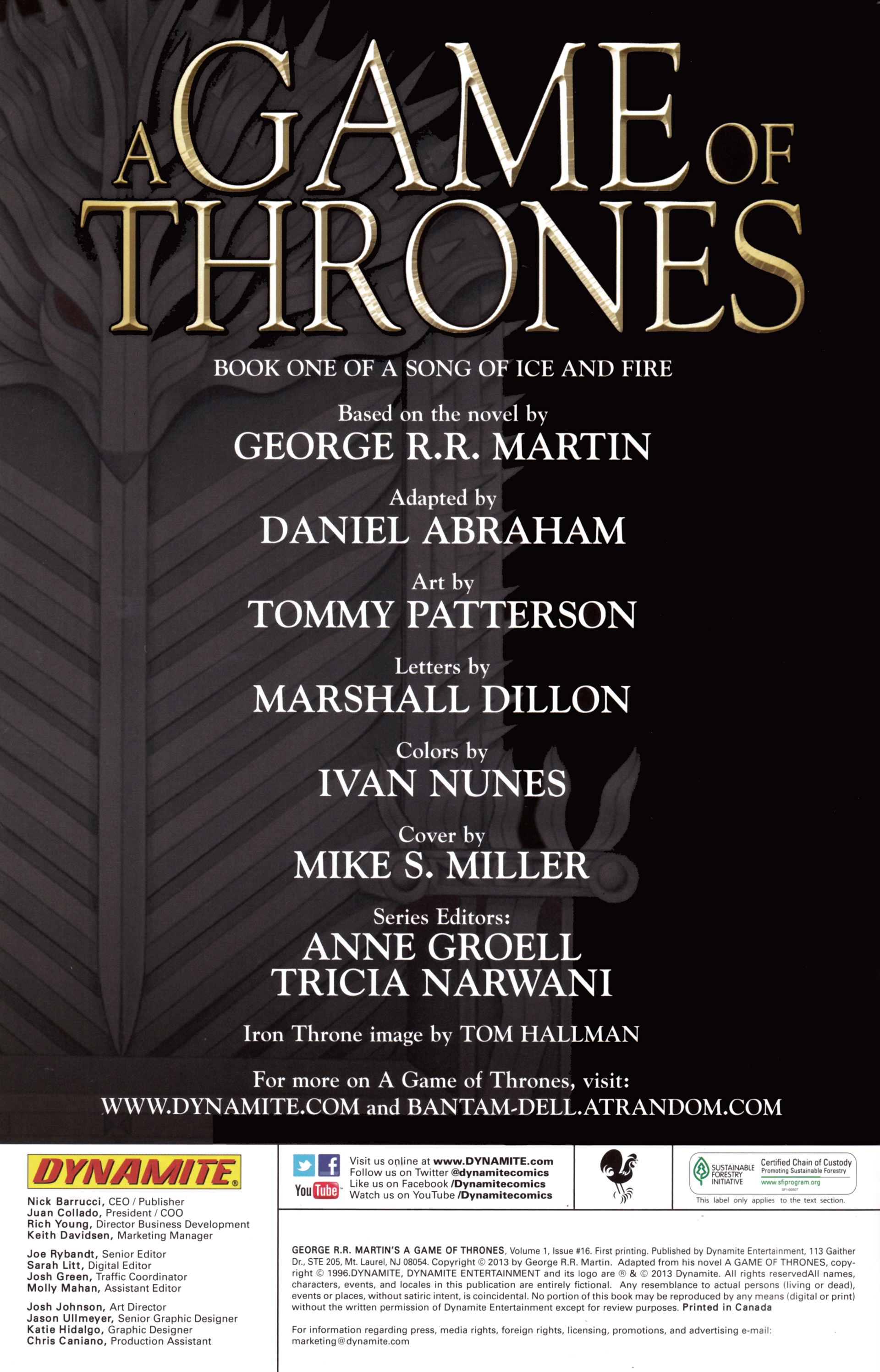 Read online A Game Of Thrones comic -  Issue #16 - 2
