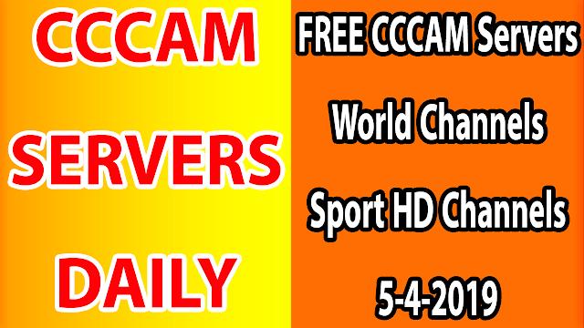 FREE CCCAM Servers World Channels +Sport HD Channels 5-4-2019