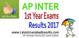www.manabadi.com Inter 1st 2nd year Results 2017, AP Intermedate Results 2017 Manabadi