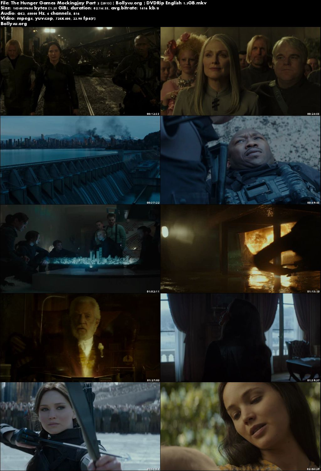 The Hunger Games Mockingjay Part 2 2015 DVDRip 400Mb English Download