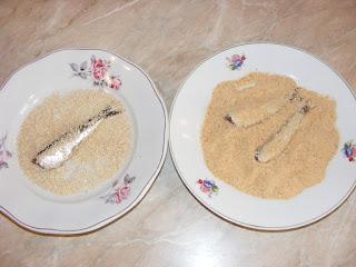 retete sardina cu susan si pesmet,