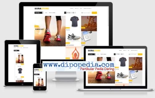 Ilustrasi An eCommerce Responsive Blogger Template SoraStore - Dipopedia