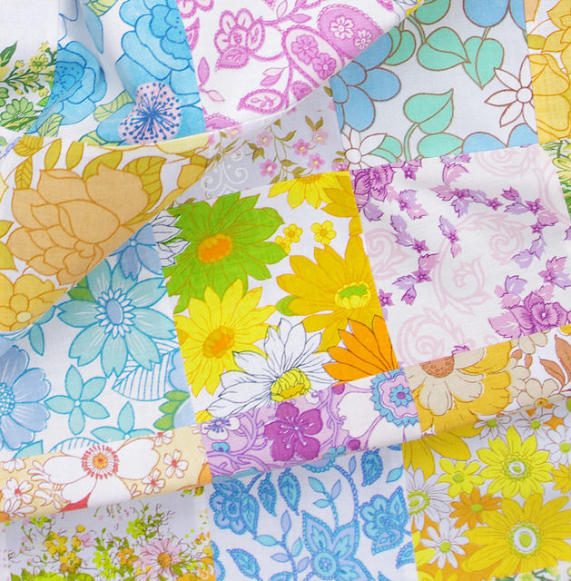 Vintage Linens Patchwork Quilt - Work in Progress | © Red Pepper Quilts 2018