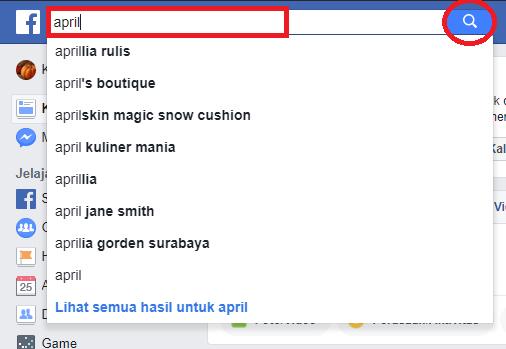 Cari teman di facebook lewat nama