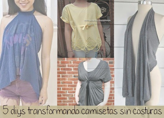 camisetas, grandes, transformarlas, customizar, bricomoda, moda