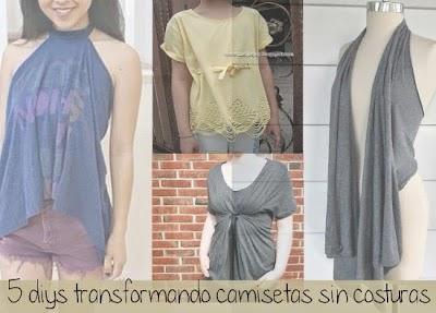 5 Camisetas Transformadas sin Costuras