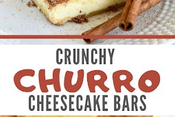 Crunchy Churro Cheesecake Bars