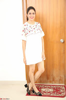 Lavanya Tripathi in Summer Style Spicy Short White Dress at her Interview  Exclusive 308.JPG