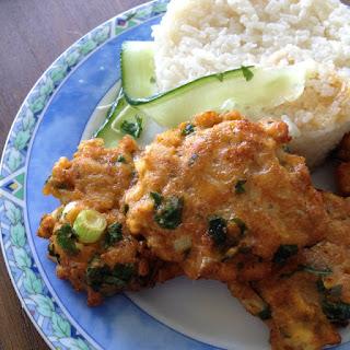Thaise viskoekjes met rijst