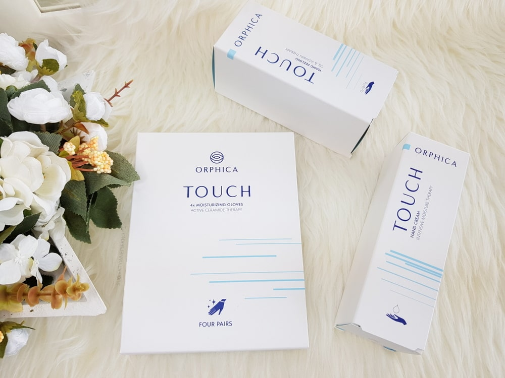 Orphica Touch - rękawiczki, peeling i krem