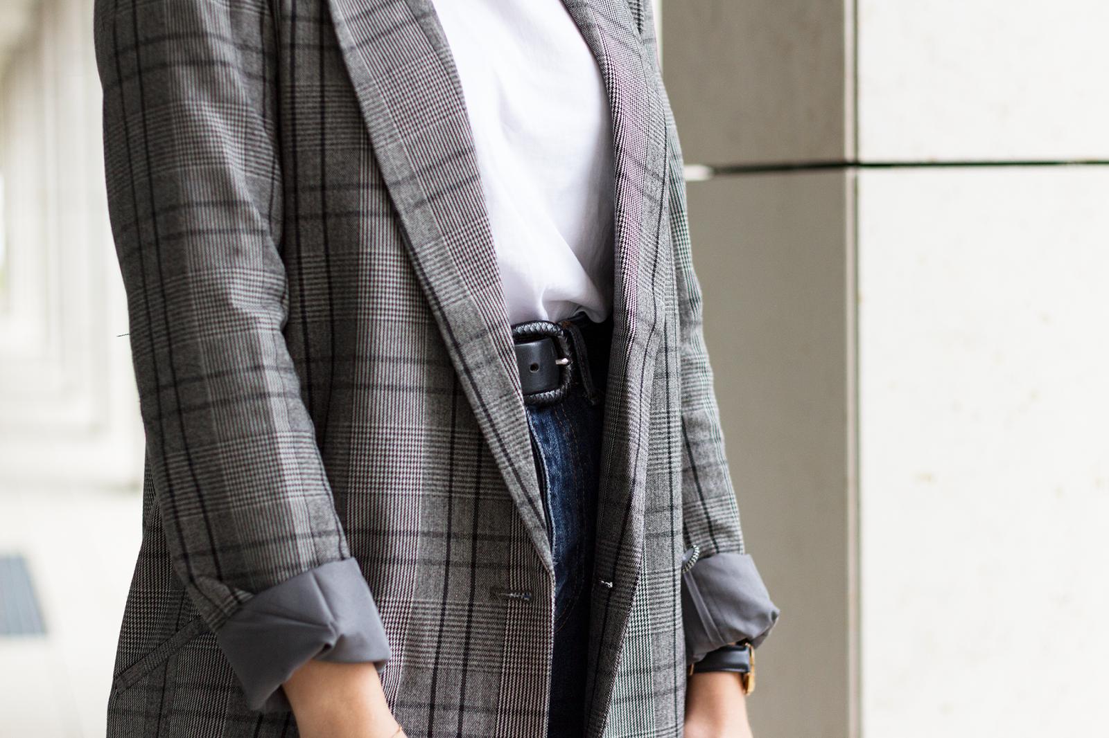 Outfit | Der karierte Blazer von Vila | www.sparklyinspiration.com