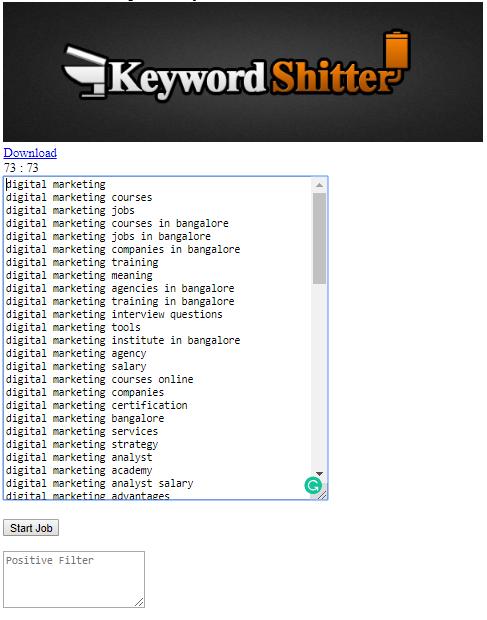 Keyword shitter Keyword Research Tool
