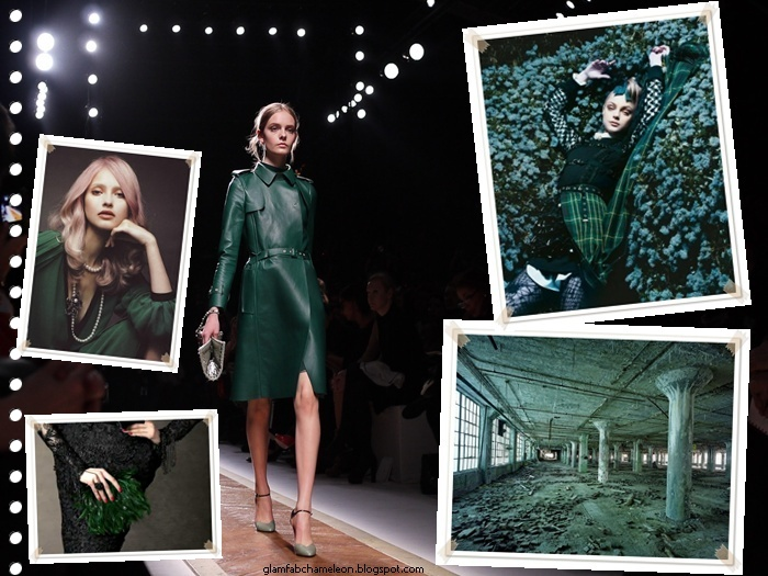 Valentino green leather coat