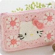 Cartera Hello kitty a Crochet