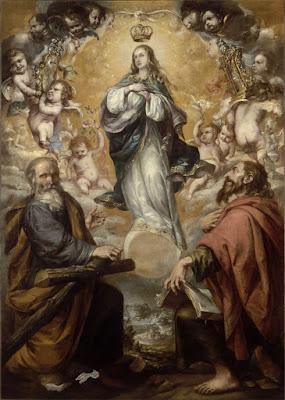 La Inmaculada Concepción con San Felipe y Santiago - Juan de Valdés Leal - 1654 - Museo del Louvre (París)