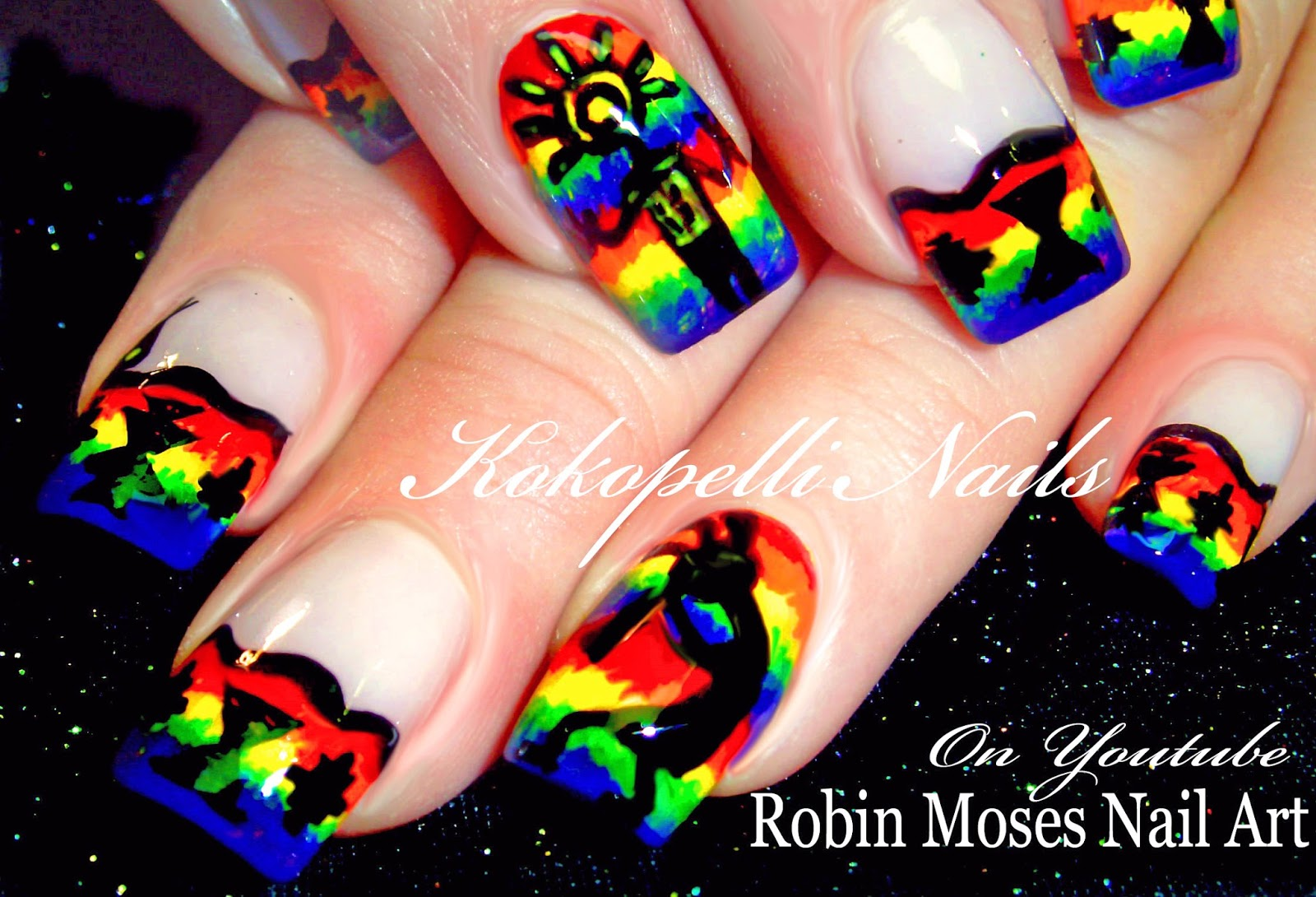 Nail Art By Robin Moses Kocopelli Nails Southwestern
