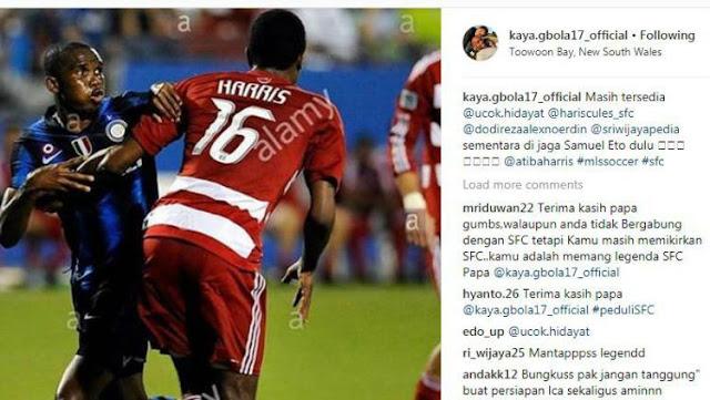 Keith-Kayamba Gumbs lagi-lagi memberikan nama pesepakbola top Eropa kepada Sriwijaya FC