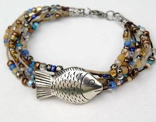 Balık ve Boncuklarla Bilezik Yapımı
