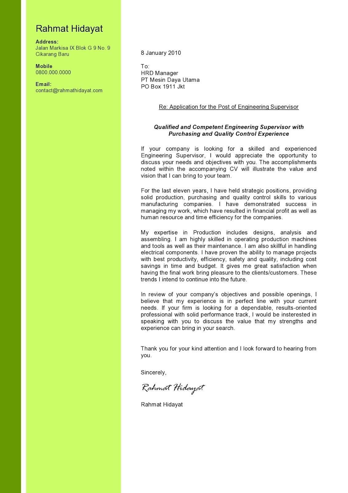 Contoh Surat Lamaran Kerja Bahasa Inggris Fresh Graduate Dan Artinya Kumpulan Surat Penting