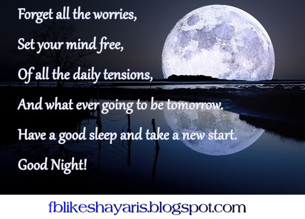 Forget all the worries! - Good Night Wishes