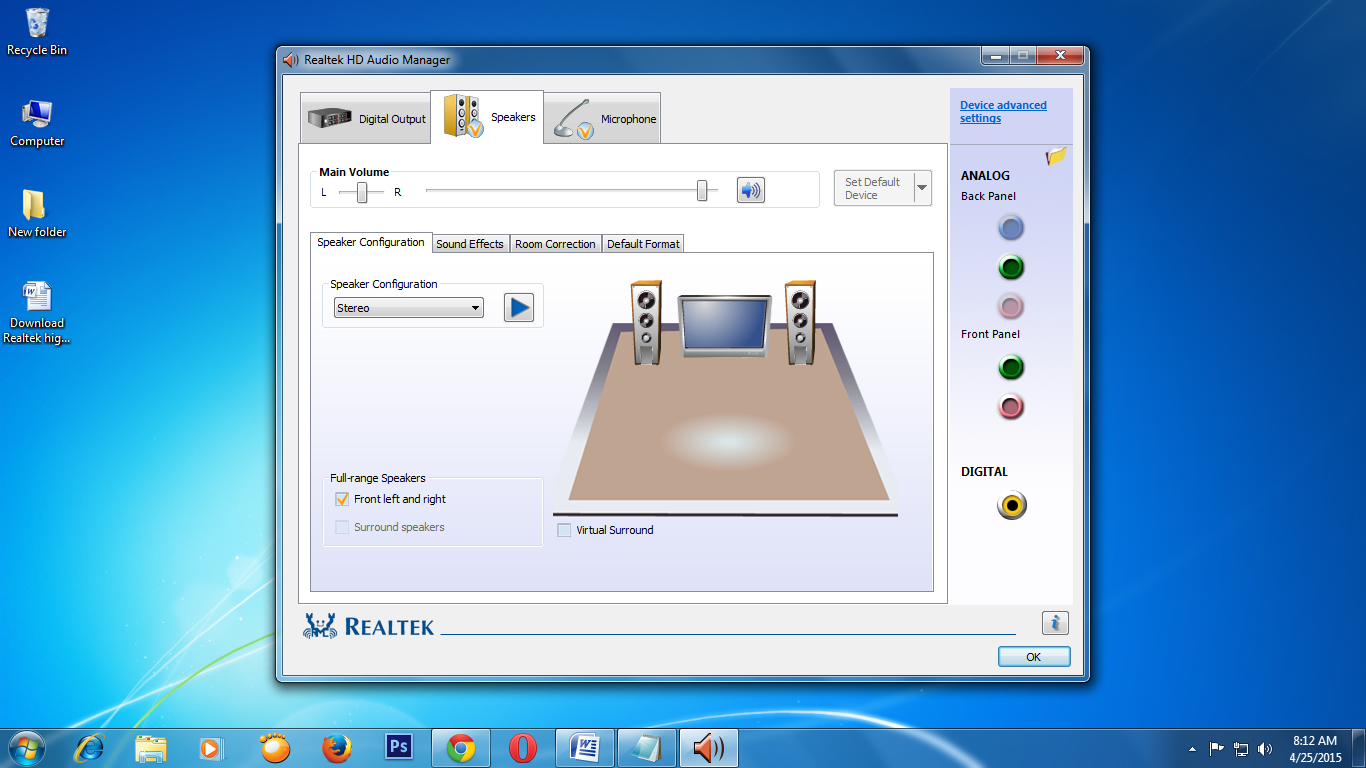 Realtek High Definition Audio Driver for Vista, Win7, Win8 ...