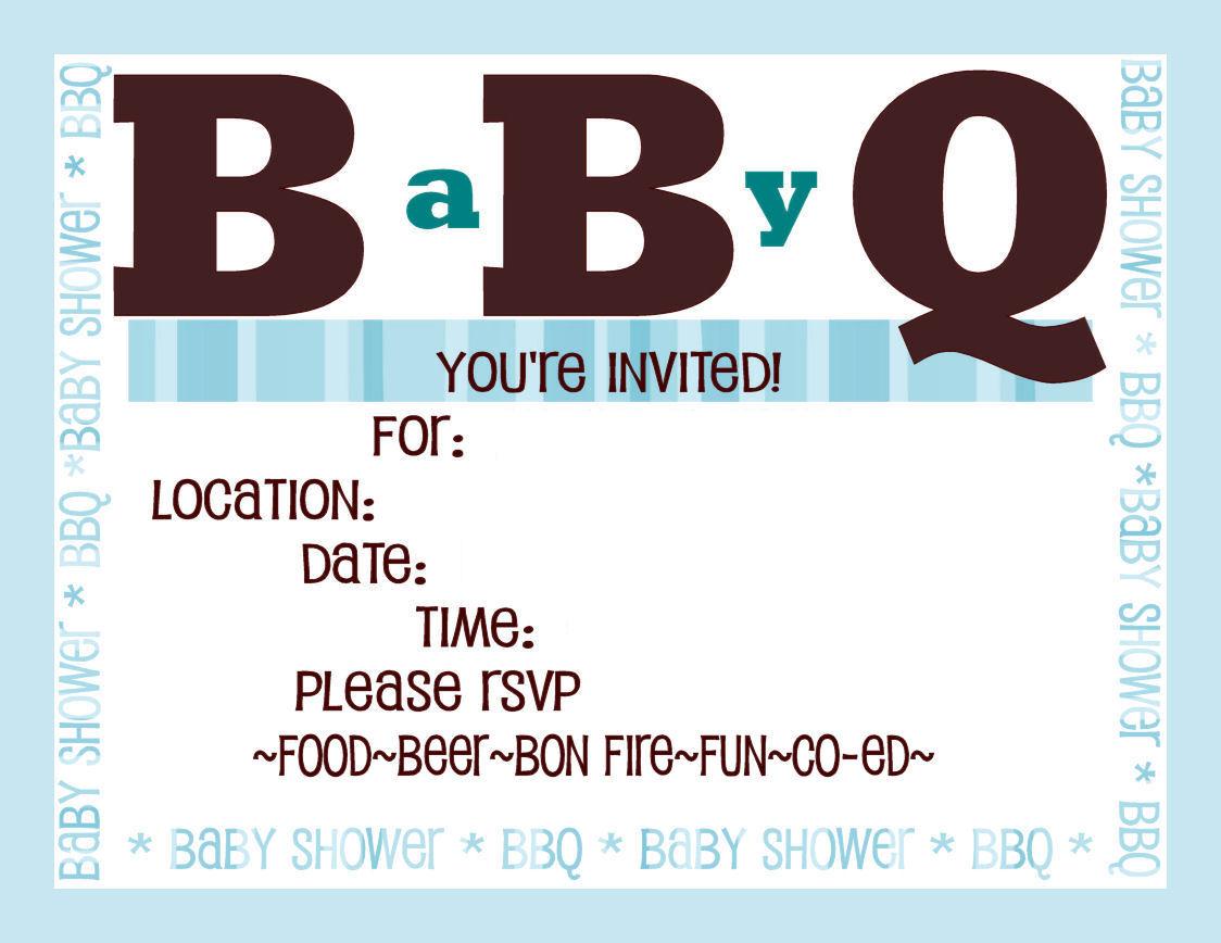 Bbq Baby Shower Invitations Diy Show