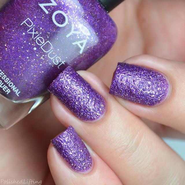 purple textured nail polish
