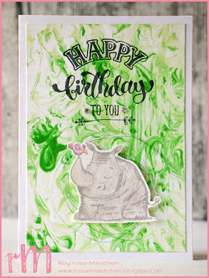 Stampin' Up! rosa Mädchen Kulmbach: Geburtstagskarten mit Rasierschaumtechnik und Wild auf Grüße