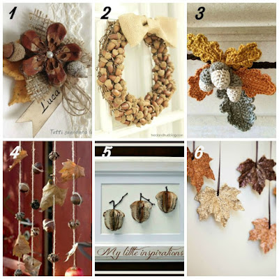 12 Fall Crafting Ideas - Acorns and leaves