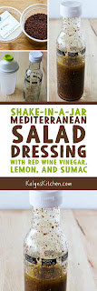 Mediterranean Salad Dresing with Sumac found on KalynsKitchen.com
