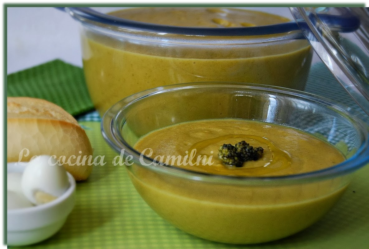 Crema de brócolis a mi manera (La cocina de Camilni)