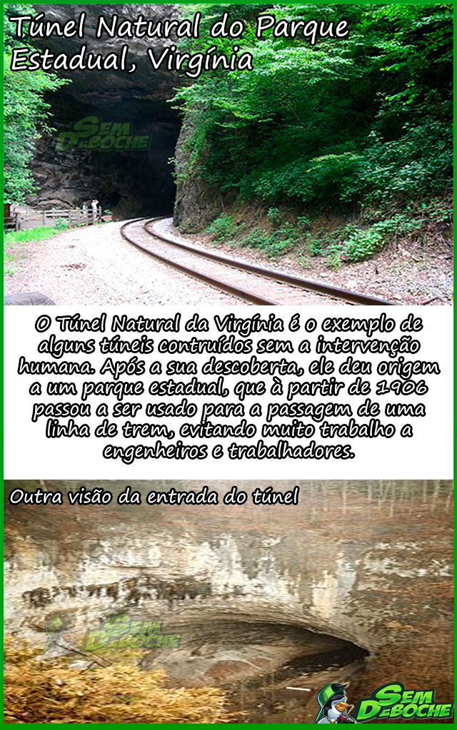Túnel Natural do Parque Estadual, Virgínia