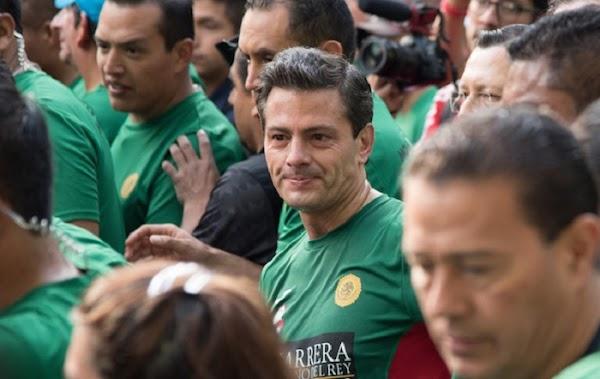 Le mientan la madre a Peña Nieto durante una carrera, Vas y chingas a toda tu put*...'