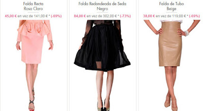 faldas oferta