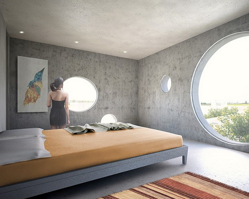 www.Tinuku.com MVRDV designed the Y-shaped villa in Taiwan with circular window facade and crown angle as rooftop pool