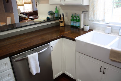 staining butcher block counters