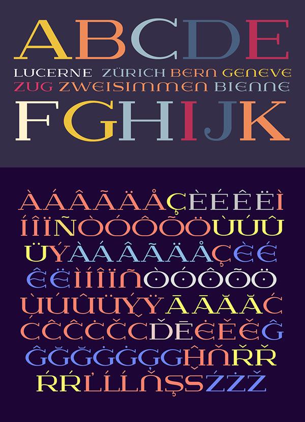 Font Terbaru Untuk Desain Grafis - Lausanne Font Letters