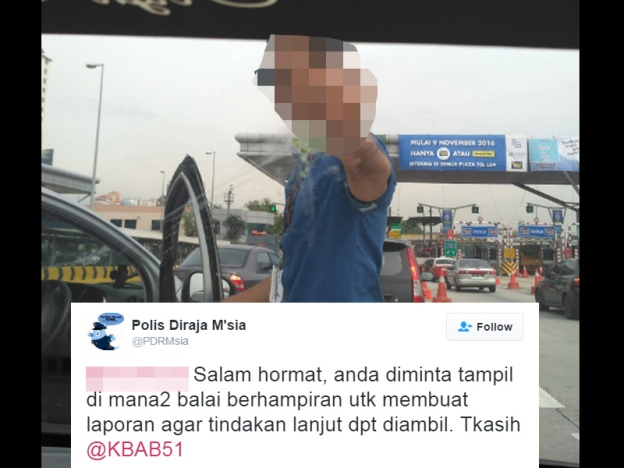 Viral Pemuda Tunjuk Isyarat Lucah: PDRM Minta Pengadu Tampil Buat Laporan