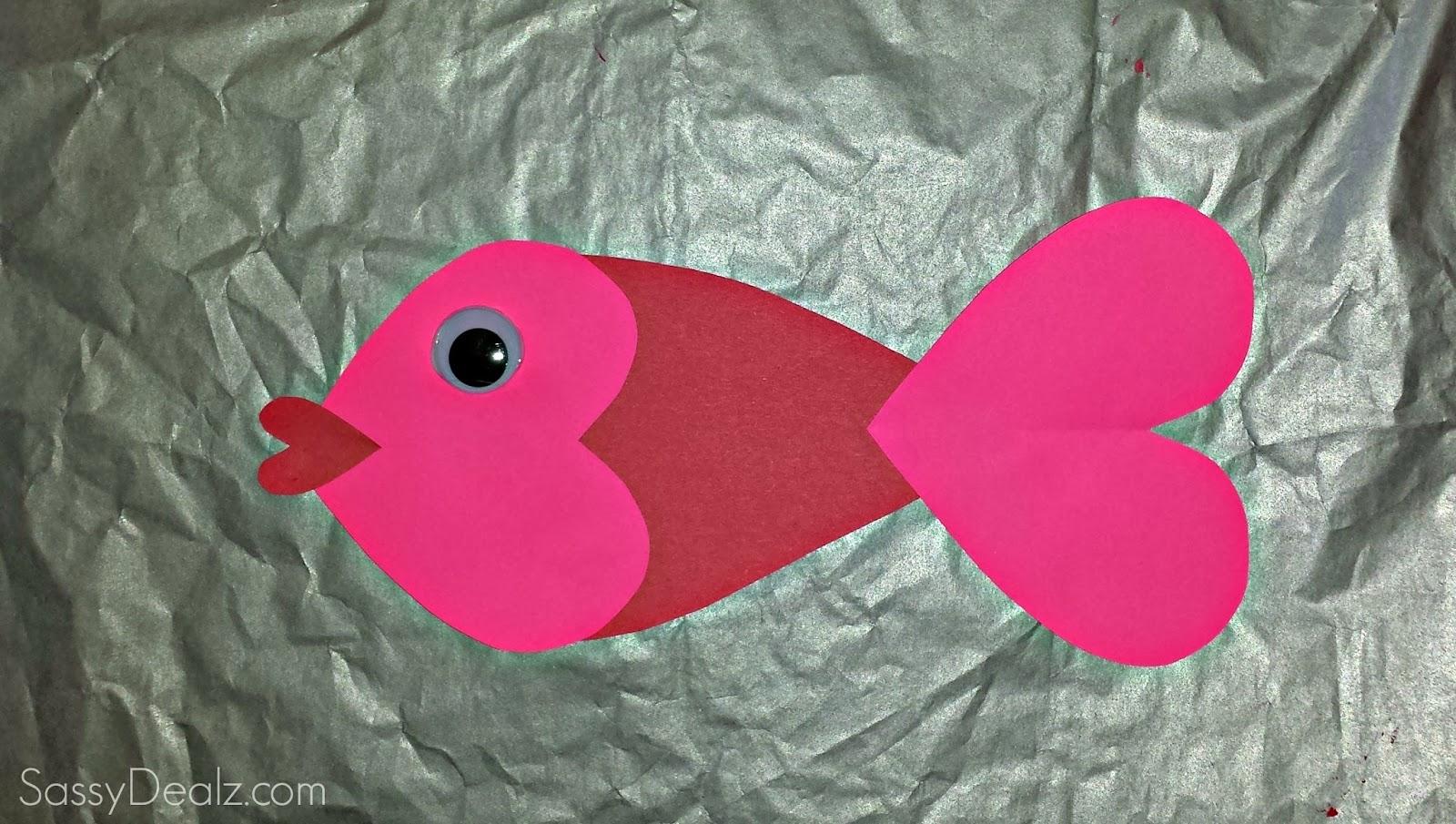 Valentine Heart Fish Craft For Kids