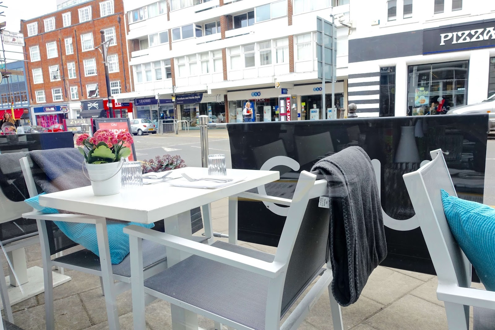 outdoor seating at CAU guildford high street