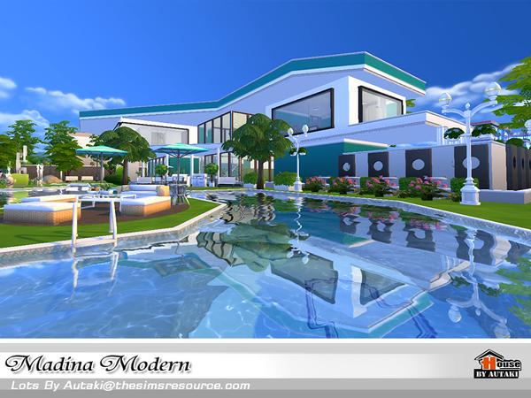 Casa moderna madina the sims 4 pirralho do game for Sims 4 modelli di casa moderna